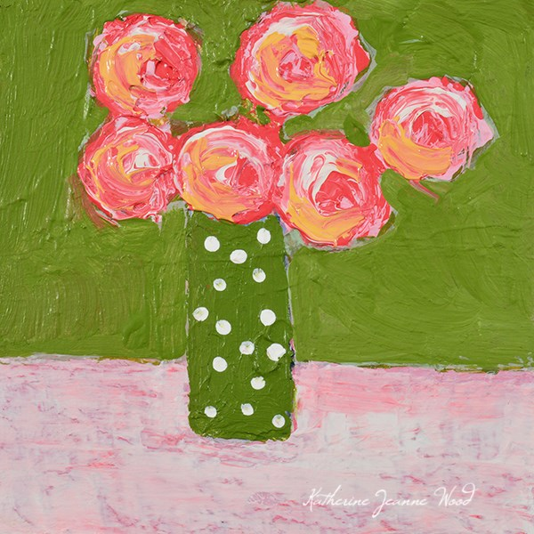 """Flower Series No 7"" original fine art by Katie Jeanne Wood"