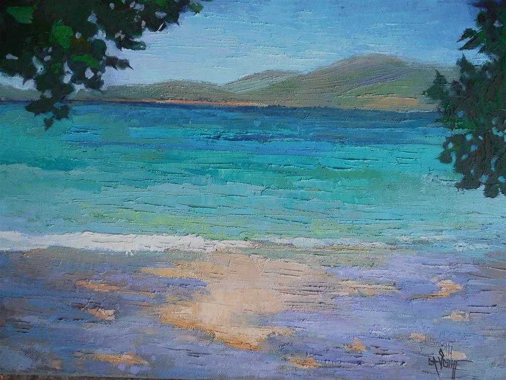 """Beach Painting, Daily Painting, Small Oil Painting, Caribbean by Carol Schiff, 16x20,1.5 Oil"" original fine art by Carol Schiff"