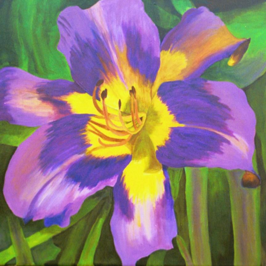 """""""Purple Daylily"""" original fine art by Lisa Wiertel"""