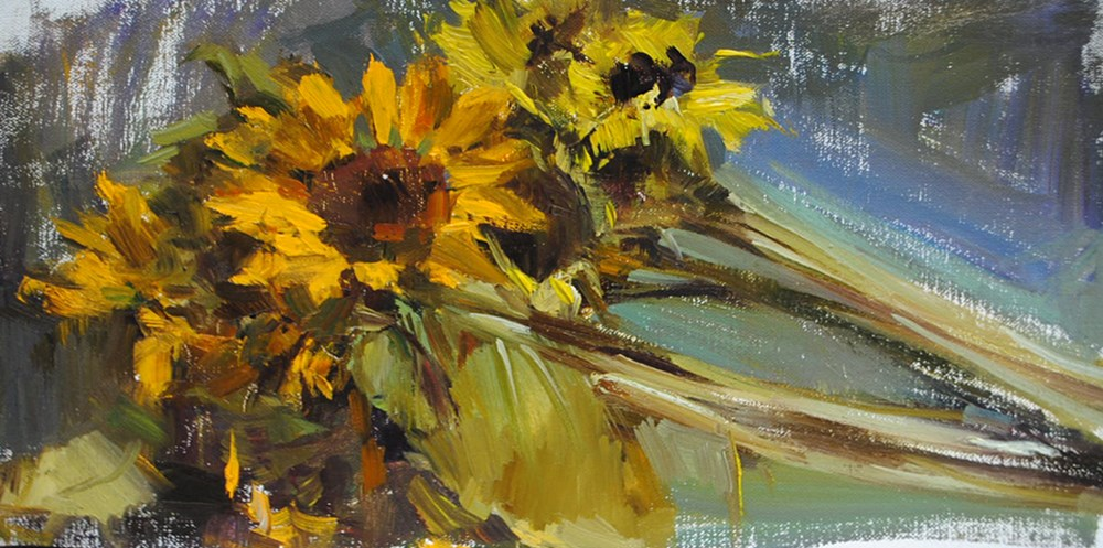 """sunflowers"" original fine art by Taisia Kuklina"