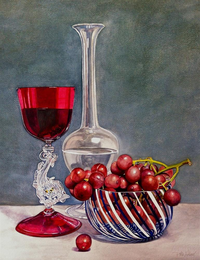 """In Vino Veritas"" original fine art by Patti Adams"