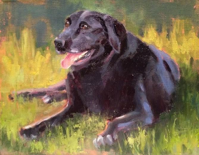 """Mallory"" original fine art by Deborah Newman"