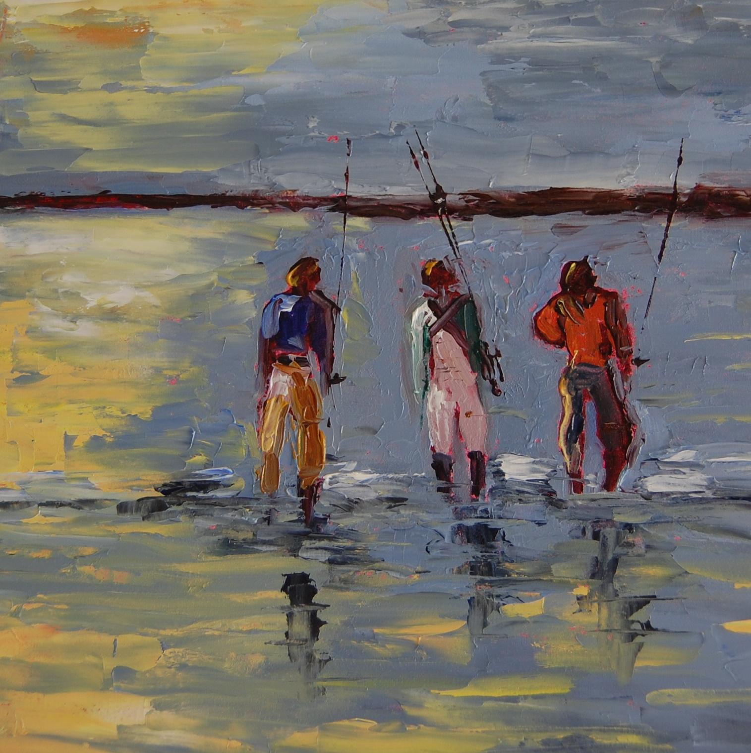 """First Catch"" original fine art by Deborah Harold"