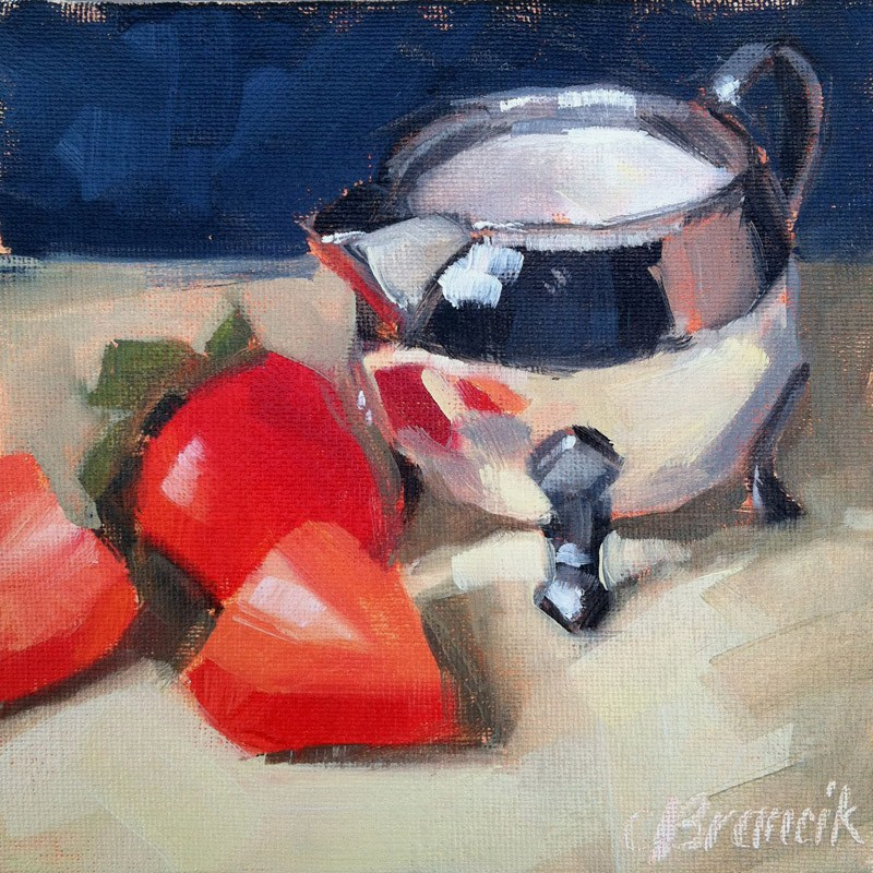 """""""At The Breakfast Table"""" original fine art by Candace Brancik"""