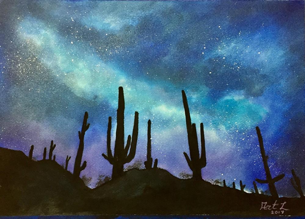 """Cactus Choir"" original fine art by Art Livingston"