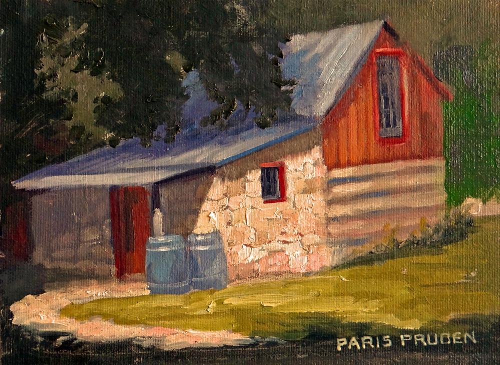 """""""Fredericksburg Sunday House"""" original fine art by Nancy Paris Pruden"""