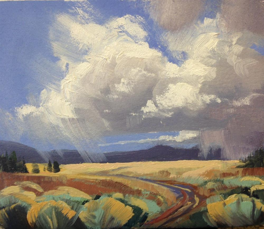 """""""Valley Storms 5"""" original fine art by Mary Jabens"""