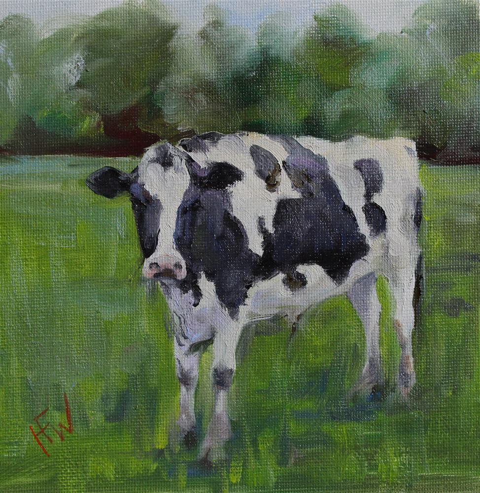 """""""Holstein Steer"""" original fine art by H.F. Wallen"""