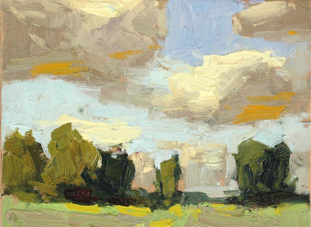 """Late Summer Clouds"" original fine art by michael clark"