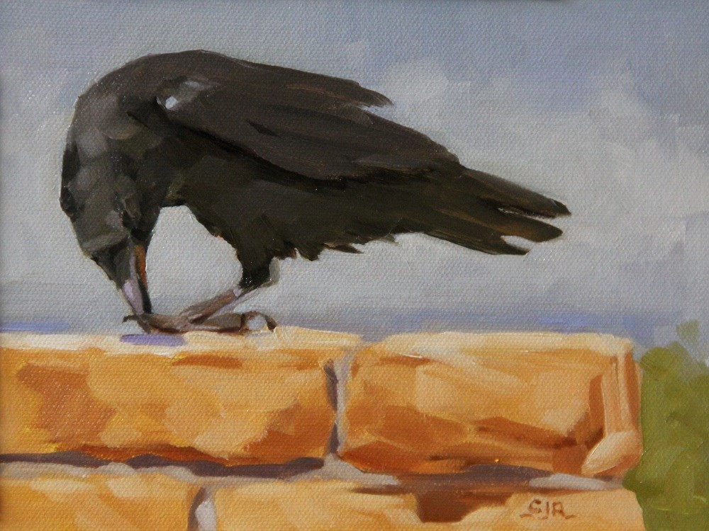 """Series: 'The Ravens Of Bryce Canyon - Last Watch'"" original fine art by C J Roughton"
