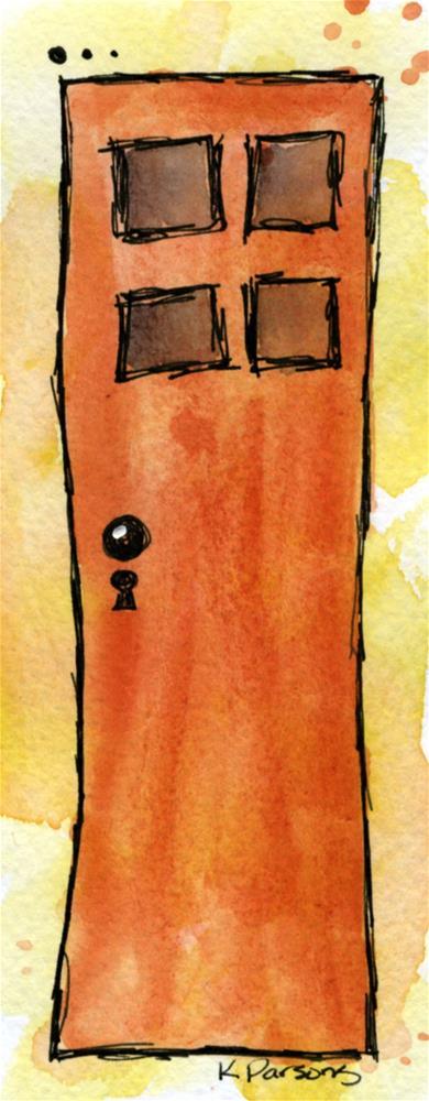 """""""Tall Door"""" original fine art by Kali Parsons"""