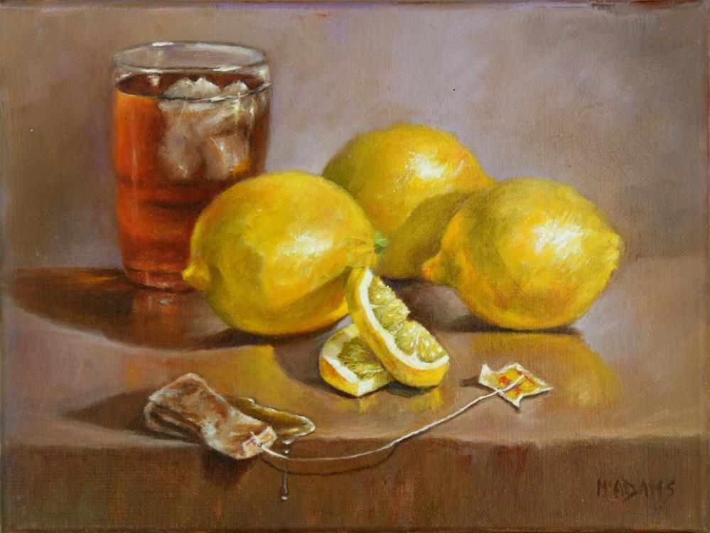 """Iced Tea with Lemons"" original fine art by Phyllis McAdams"