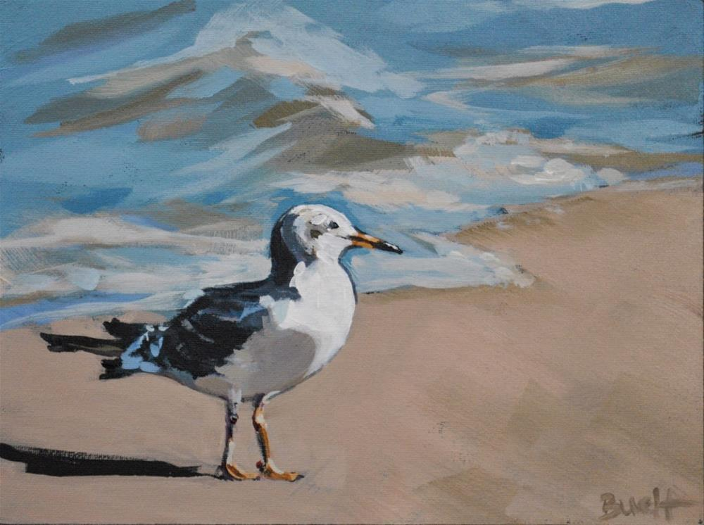 """Shore Bird"" original fine art by Shari Buelt"