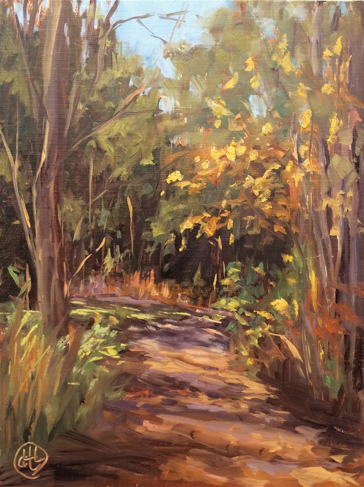 """a walk in the park"" original fine art by Dottie  T  Leatherwood"