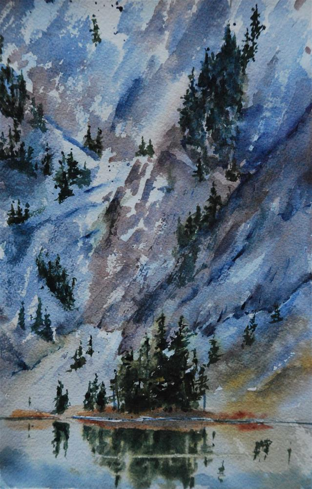 """Lake Twentytwo"" original fine art by Mary Anderson"