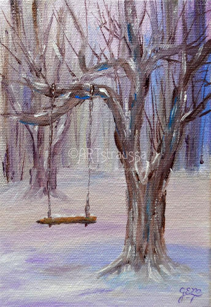 """Frosty Swing"" original fine art by Gloria Ester"