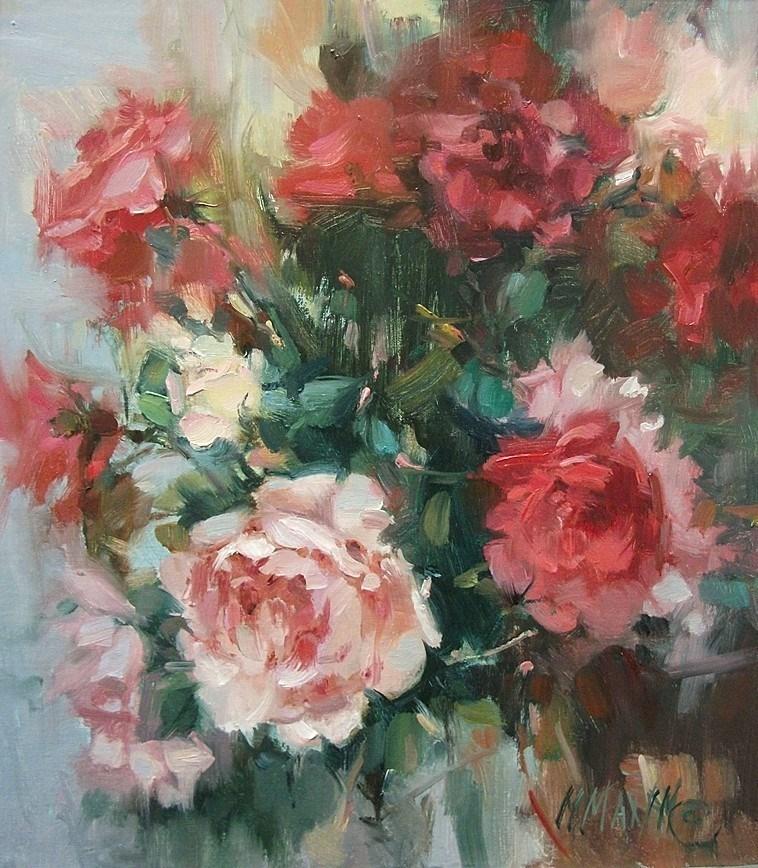 """Rose Garden"" original fine art by Mary Maxam"