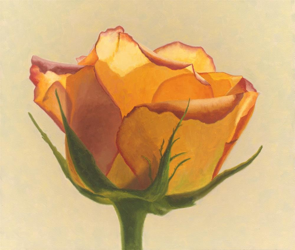 """Yellow Rose"" original fine art by Susan Fern"