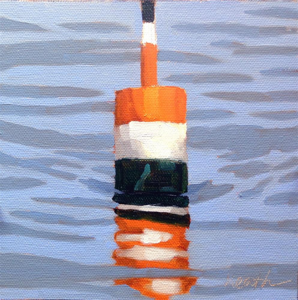 """""""Lobster Buoy 2"""" original fine art by Bobbi Heath"""