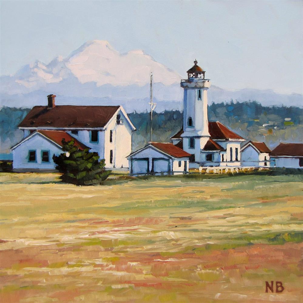 """""""Point Wilson Light"""" original fine art by Nora Bergman"""