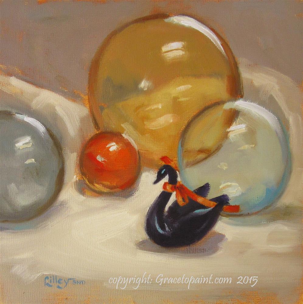 """Floaties"" original fine art by Maresa Lilley"