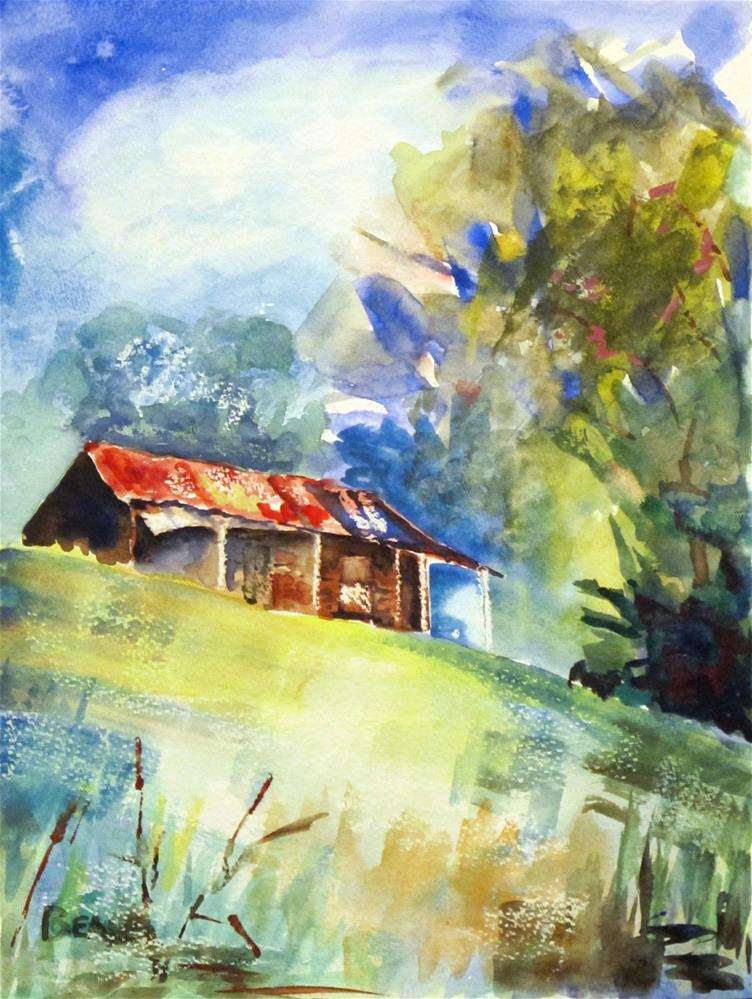 """""""Middle Tennessee Rural Scene :Abandoned"""" original fine art by  David Beale"""