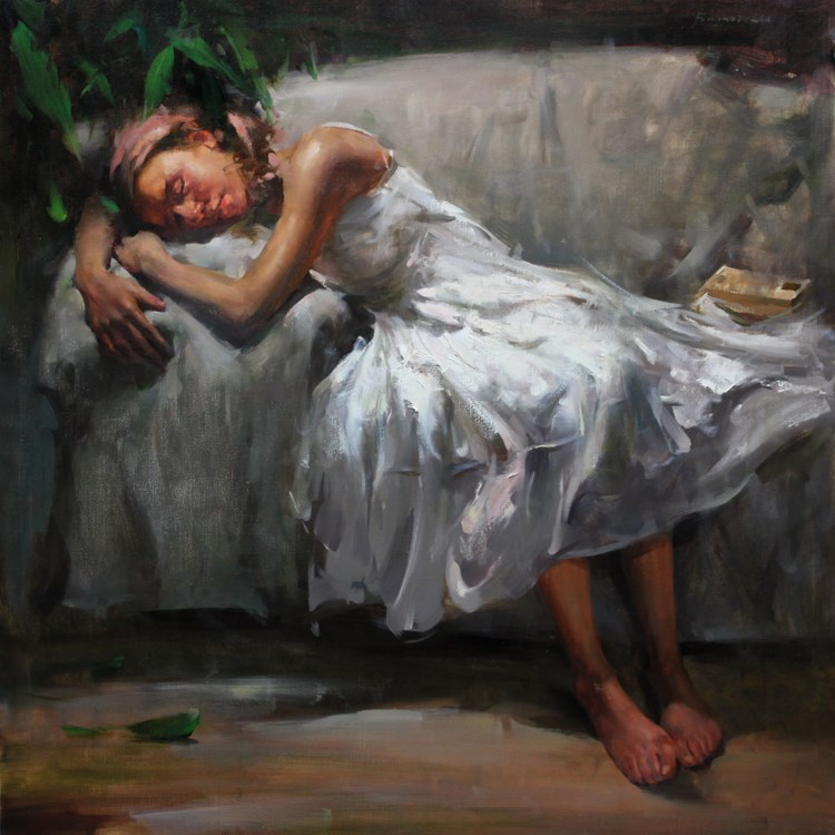 """Rest for a moment"" original fine art by Fongwei Liu"