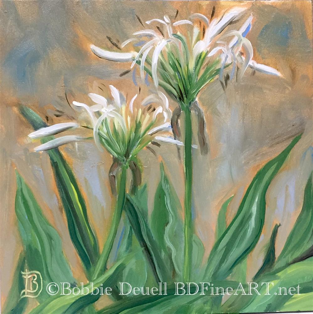 """#43 Afternoon Flower"" original fine art by Bobbie Deuell"