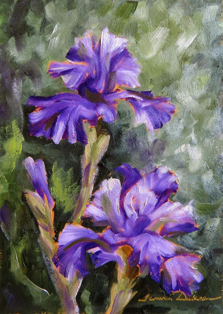 """Purple Iris"" original fine art by Tammie Dickerson"