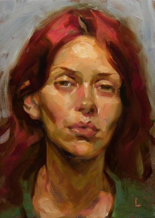 """""""Crimson Mane"""" original fine art by John Larriva"""