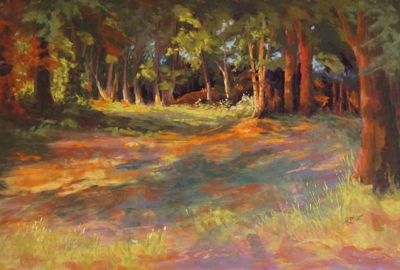 """Enchanted Wood"" original fine art by Ruth Mann"