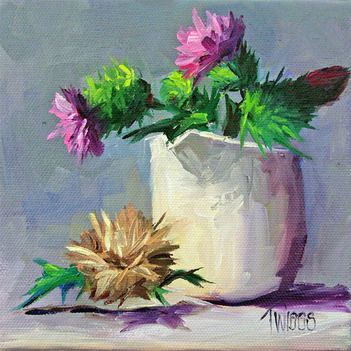 """Thistles 4 Going to Seed"" original fine art by Lori Twiggs"