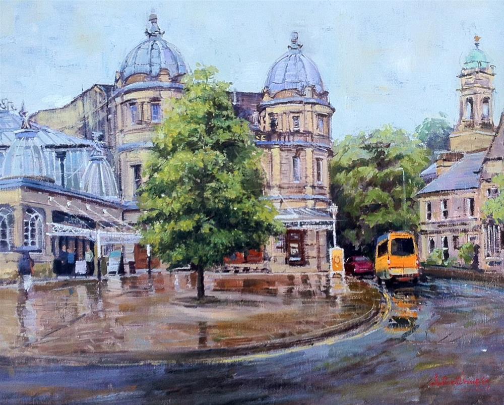 """After the Rain, Buxton Opera House"" original fine art by Adebanji Alade"
