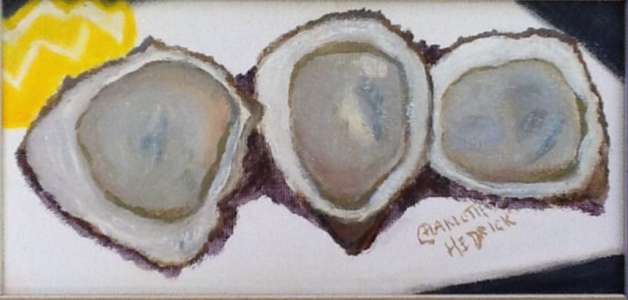 """TRIPLE OYSTER"" original fine art by Charlotte Bankhead Hedrick"
