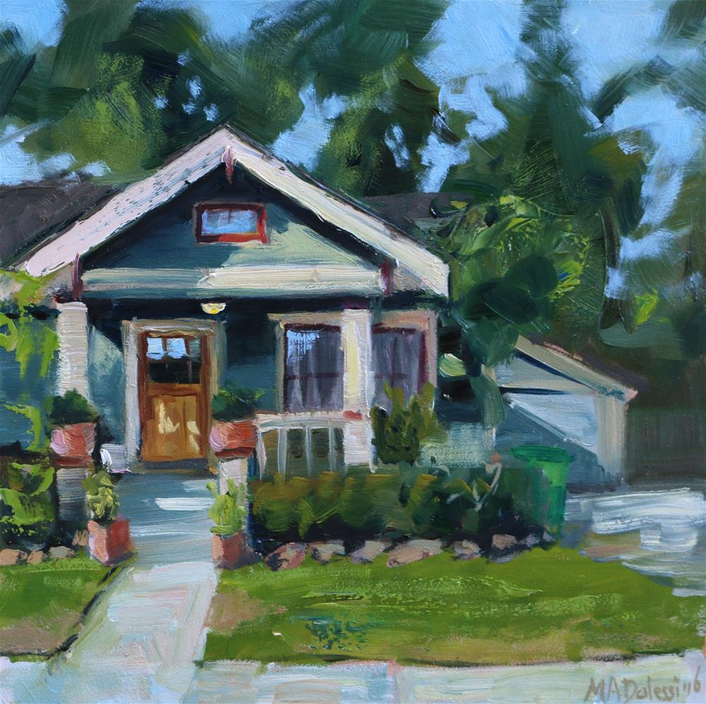 """Texas house in the Heights"" original fine art by Miranda Dalessi"