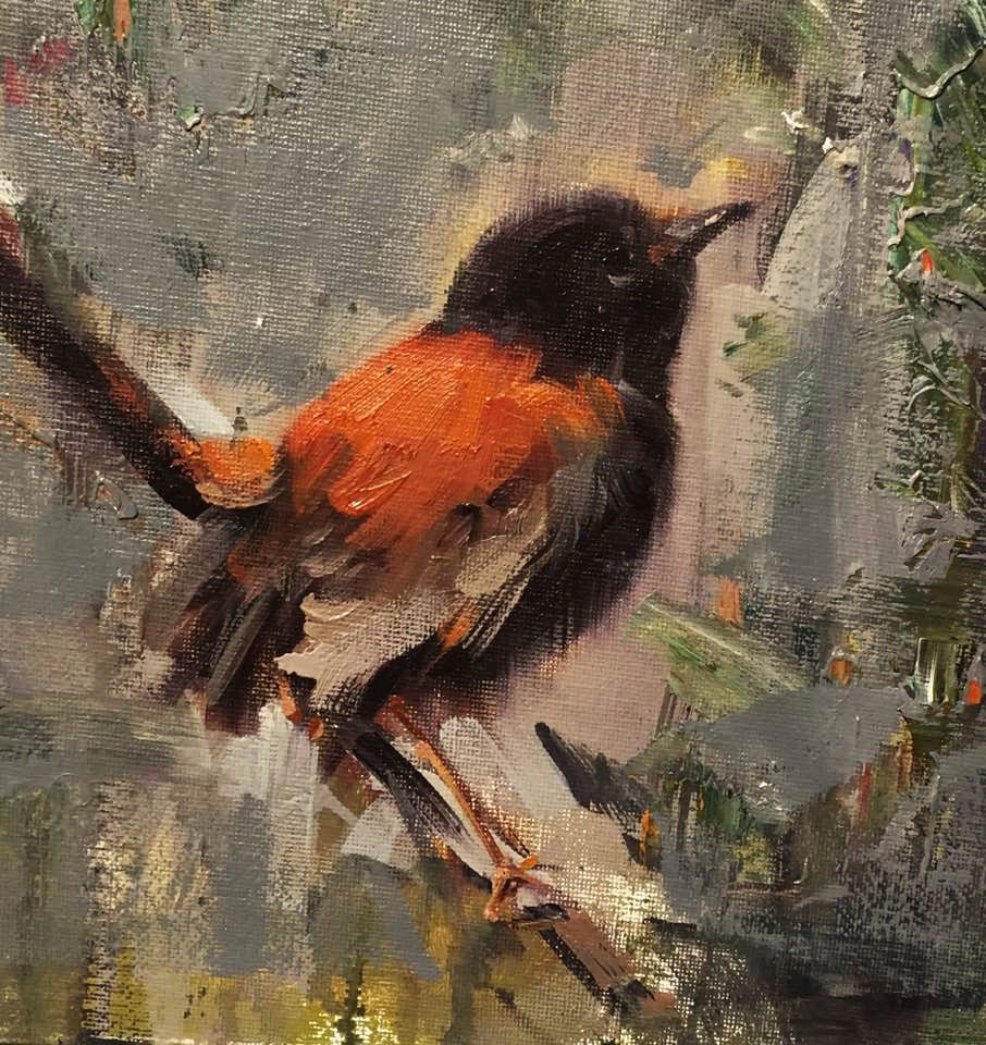 """Bird Collection(Red)"" original fine art by Mostafa Keyhani"