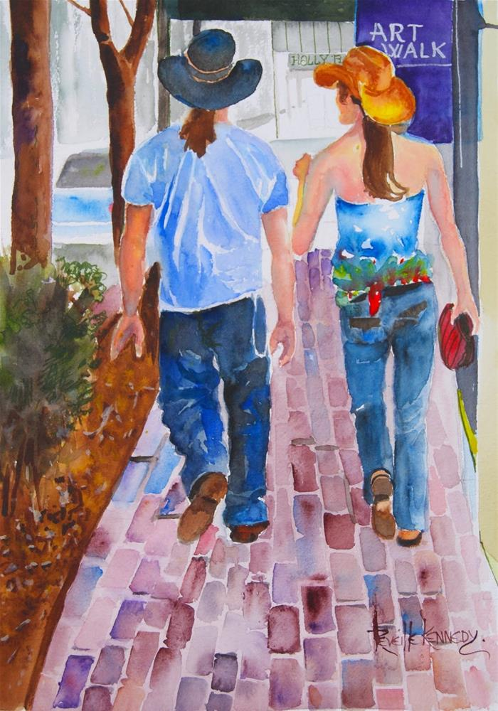 """Walkin' the Art Walk, Old Colorado City"" original fine art by Reveille Kennedy"