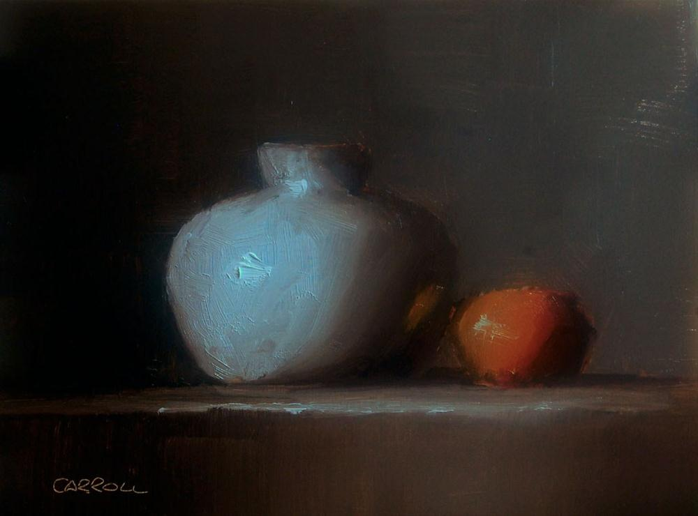 """Vase with Clementine"" original fine art by Neil Carroll"