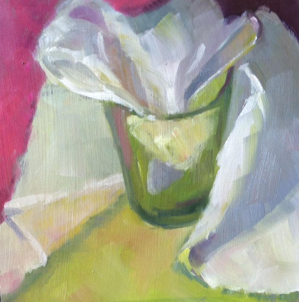 """Napkin Glass Spoon"" original fine art by Katharine March"