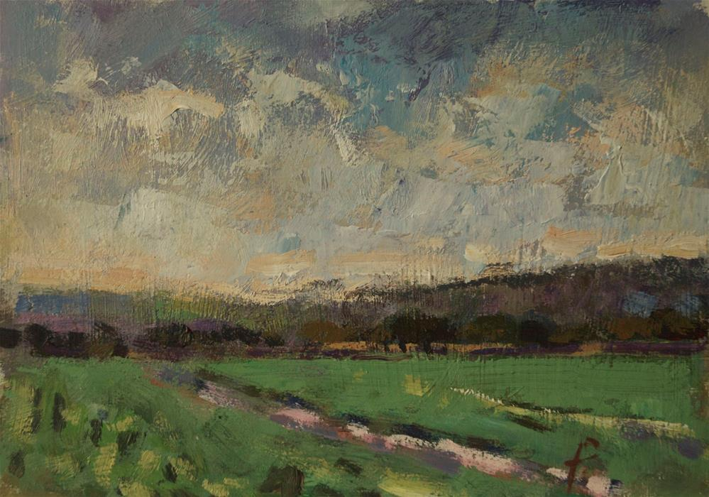 """'Bridleway'"" original fine art by Andre Pallat"
