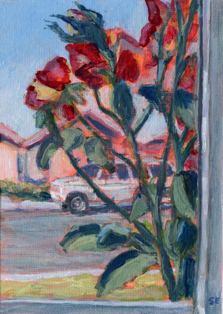"""Rose Window"" original fine art by Stanley Epperson"