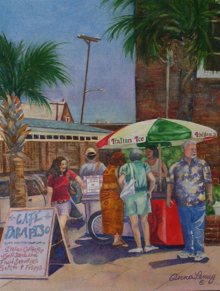 """""""Hot Day at the Slave Market"""" original fine art by Anna Penny"""