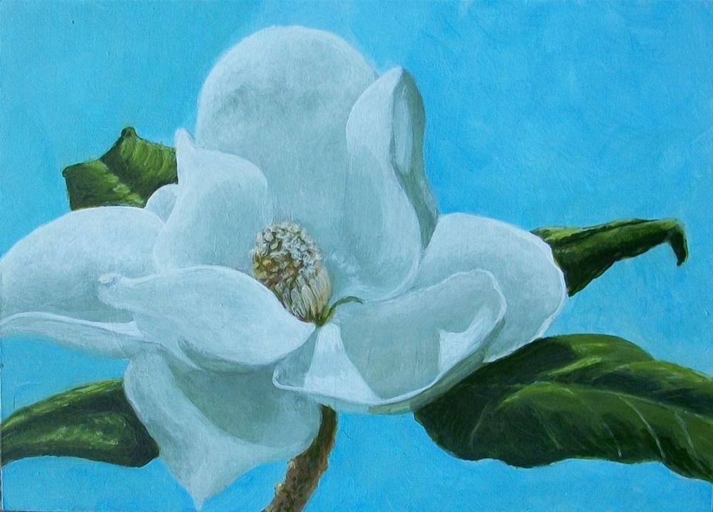 """Magnolia II"" original fine art by Elizabeth Elgin"