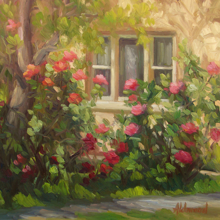 """Smelling Roses"" original fine art by Sherri Aldawood"
