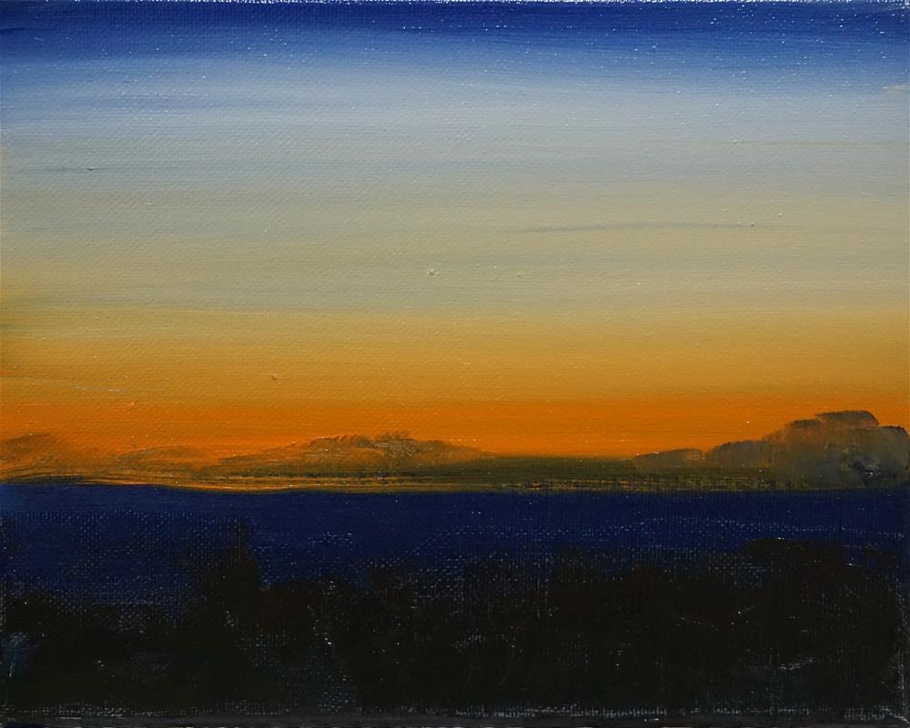 """Sunrise"" original fine art by Catherine Van Berg"