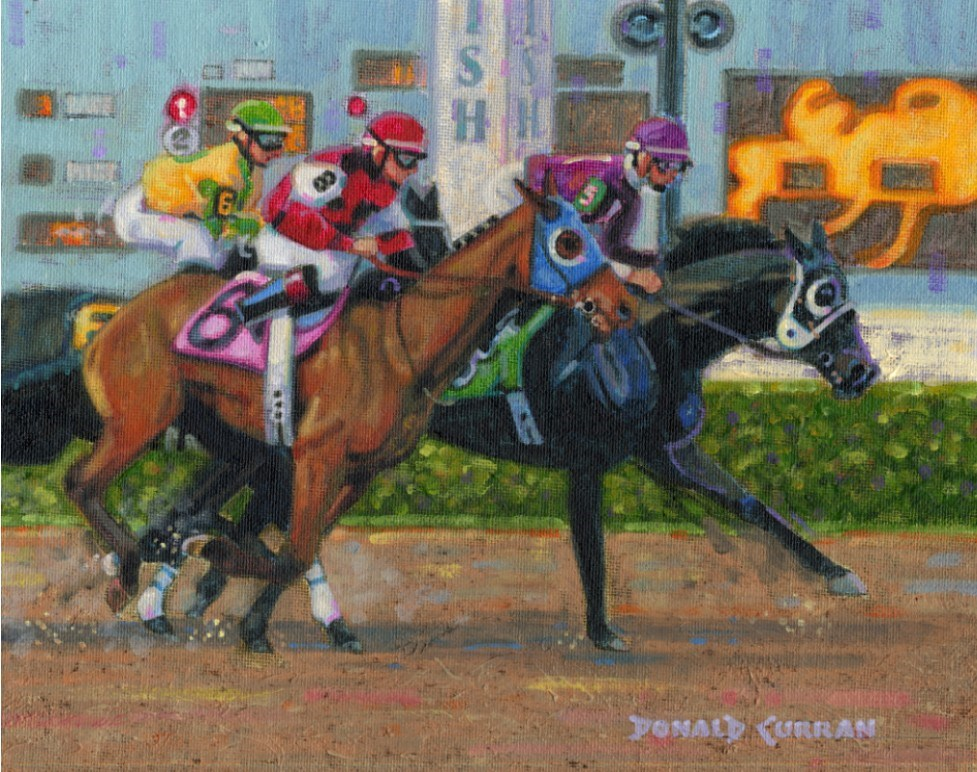 """Finish Line"" original fine art by Donald Curran"