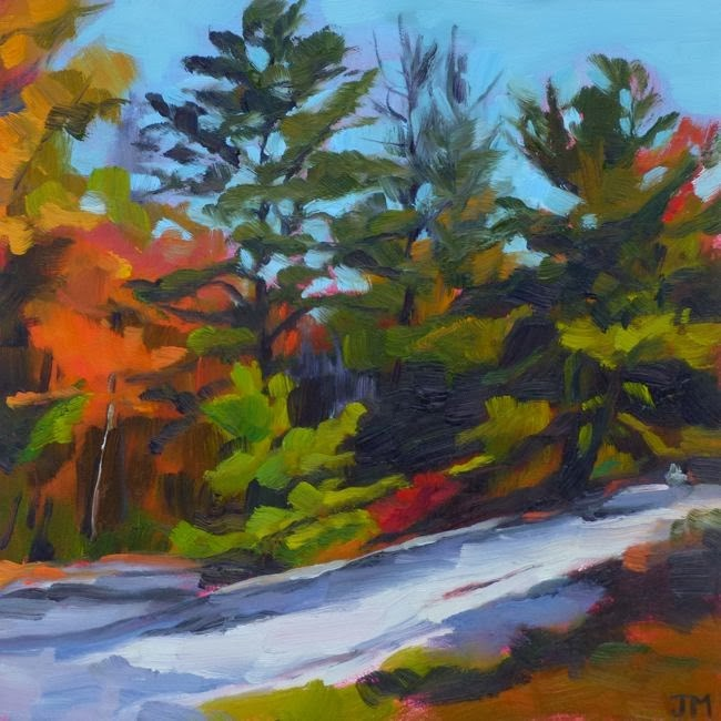"""Minnewaska Pines"" original fine art by Jessica Miller"