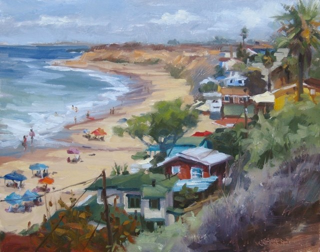 """Crystal Cove Overlook"" original fine art by Karen Werner"