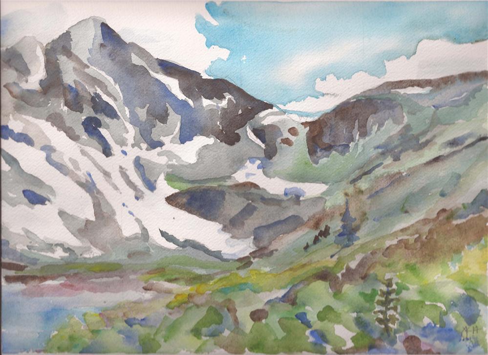 """Upper Comanche Lake, Sangre de Cristos, Colorado"" original fine art by Jean Krueger"