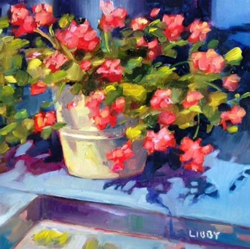 """Charleston Blooms"" original fine art by Libby Anderson"